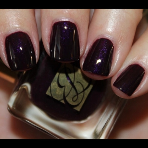 Estee Lauder Makeup | Este Lauder Black Plum Nail Polish | Poshmark
